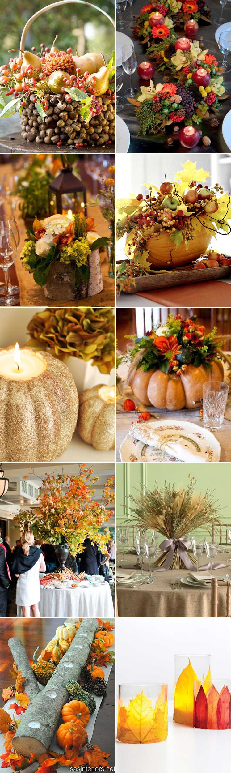 Autumn centrepiece inspiration