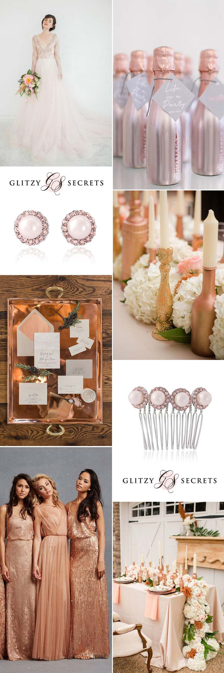 fabulous bronze and blush wedding inspiration