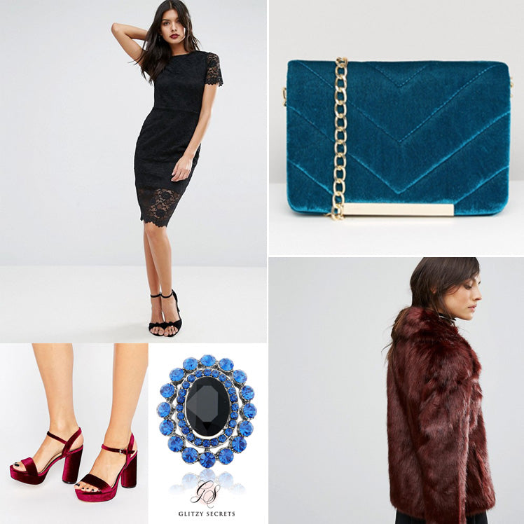 jewel tone elegance to accessorise your little black dress
