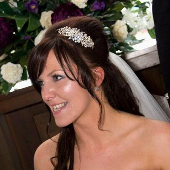 Carla-Jane wears Heirloom of Beauty Side Tiara by Glitzy Secrets