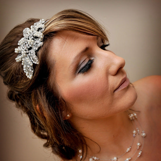 Christina Wears Treasured Pearl Side Tiara by Glitzy Secrets