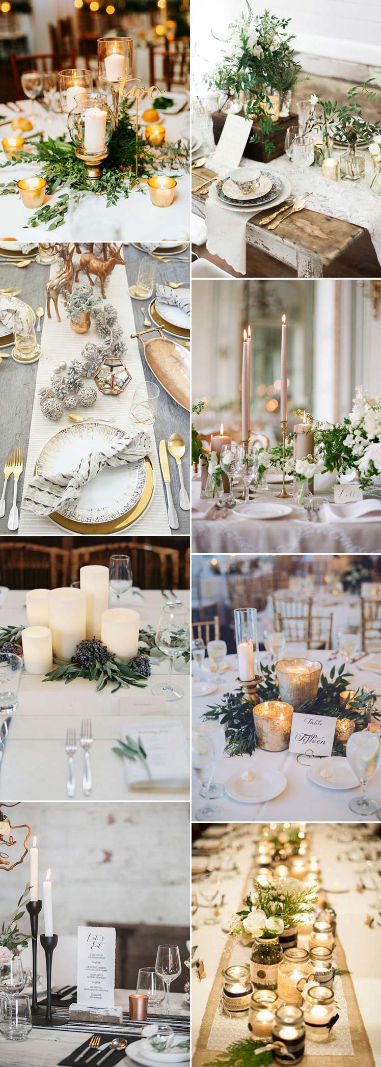 beautiful christmas wedding table decorations