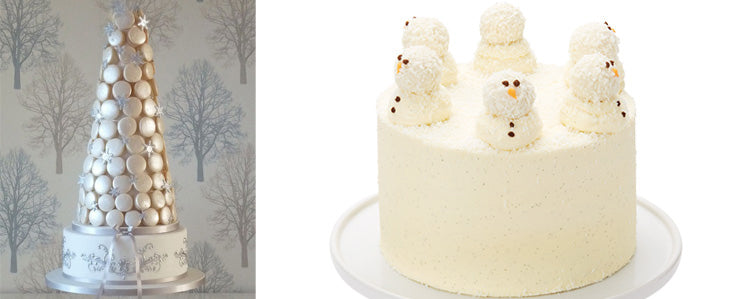 Christmas theme wedding cake ideas