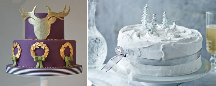 ideas for Christmas wedding cakes