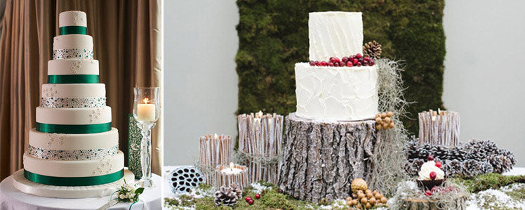 Christmas wedding cake inspo