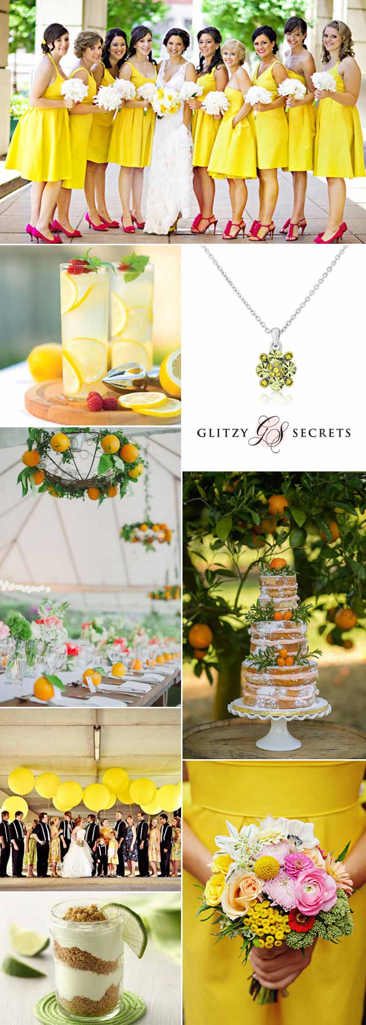 bright citrus wedding ideas