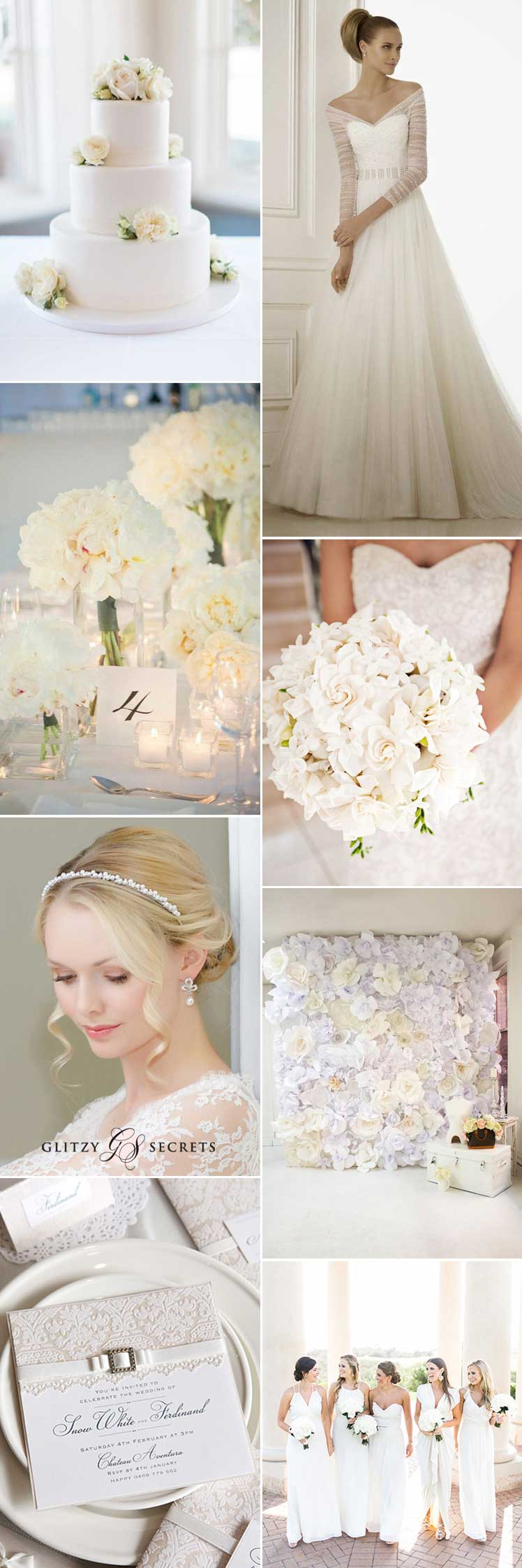 Beautiful white wedding ideas