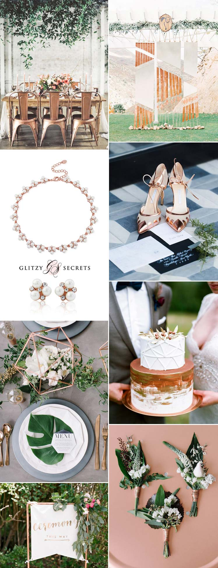 Modern copper wedding inspiration