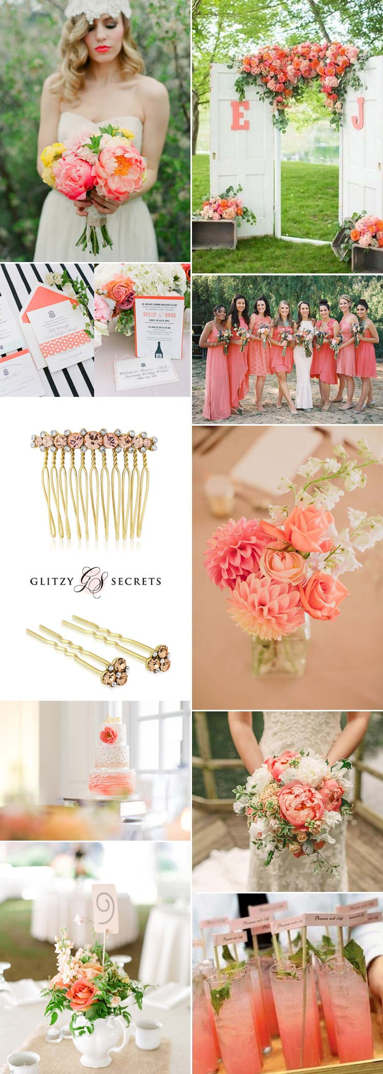 Pretty coral wedding ideas