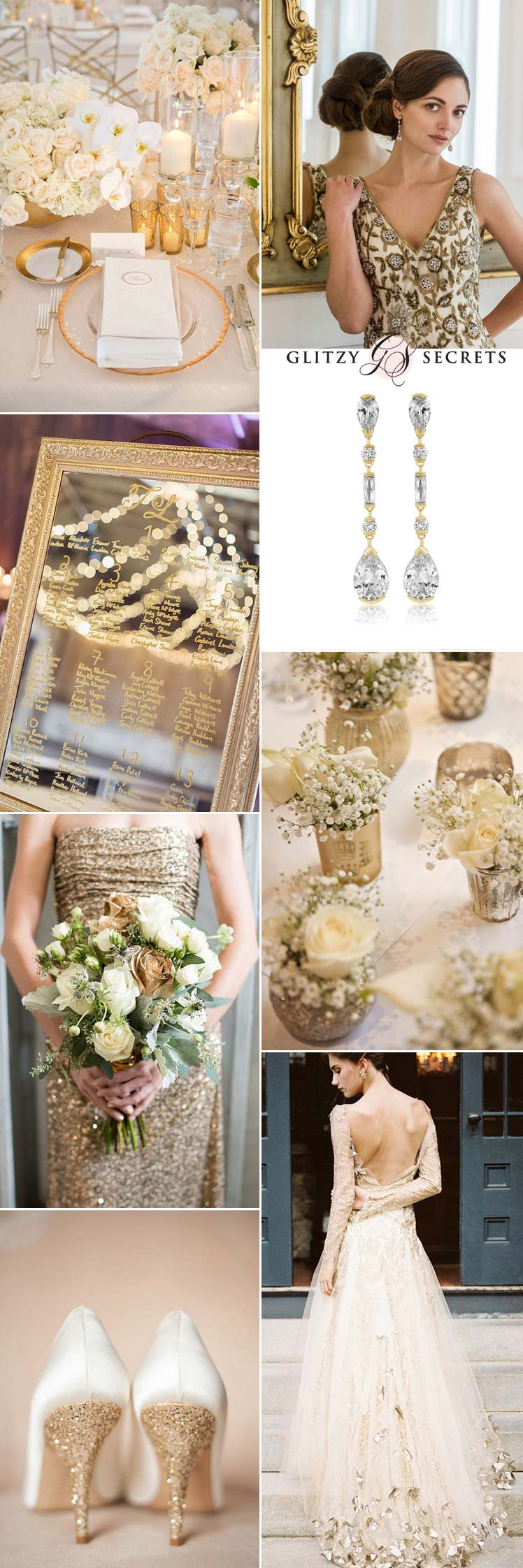 a luxurious wedding theme of cream and gold
