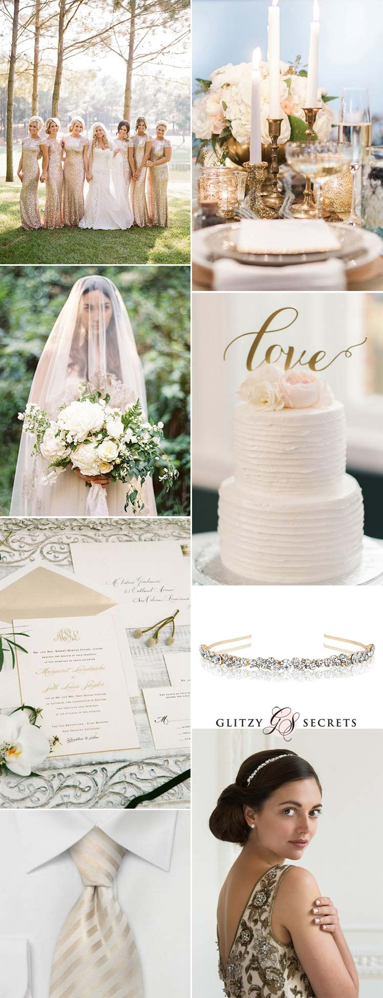 Cream and gold wedding inspiration ideas