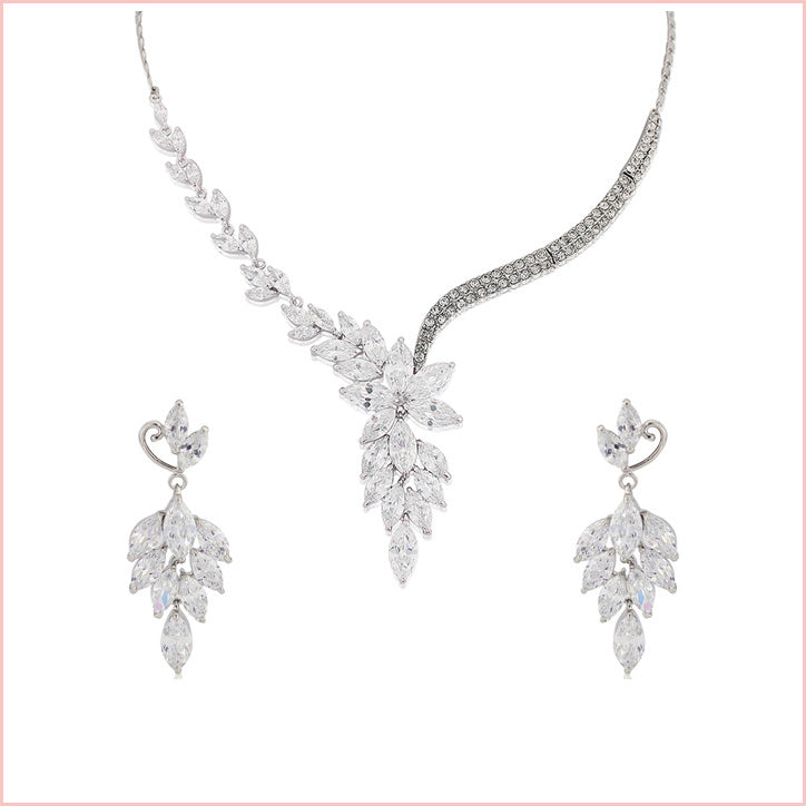 Crystal wedding jewellery set collection