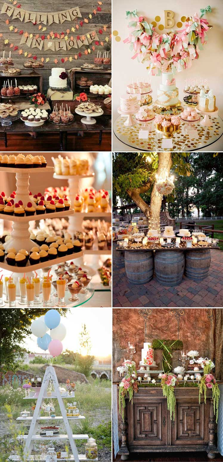 Delicious dessert table ideas for your wedding