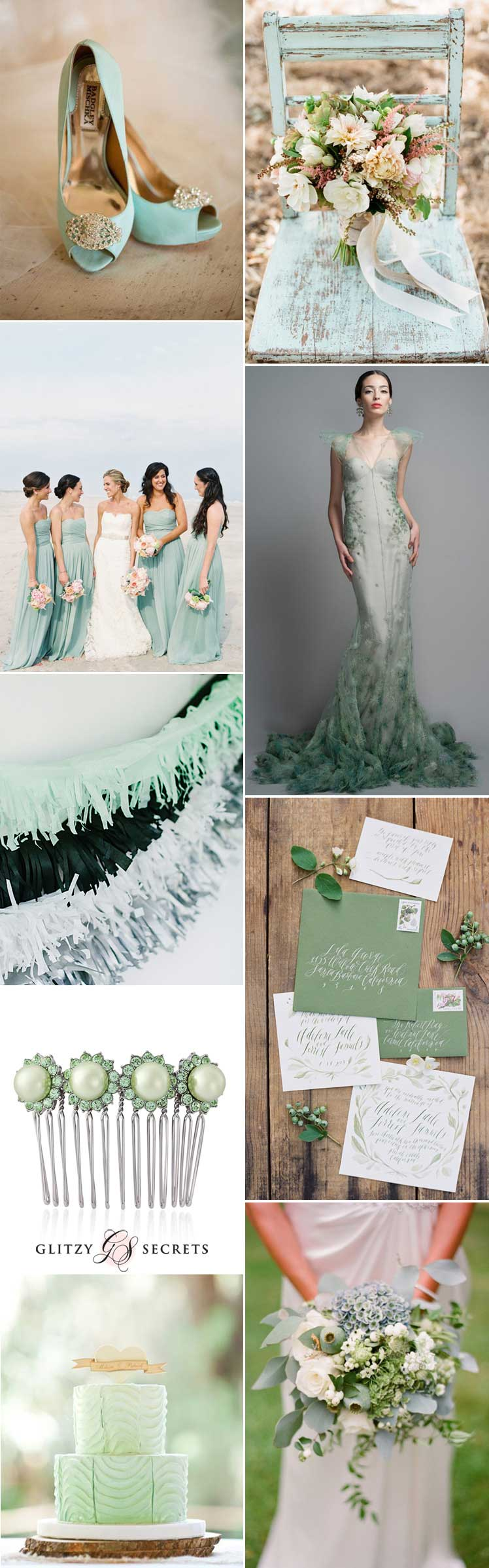 seafoam wedding ideas for a beautiful theme