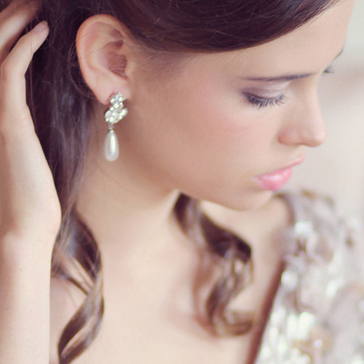 Collection of drop, stud and chandelier earrings