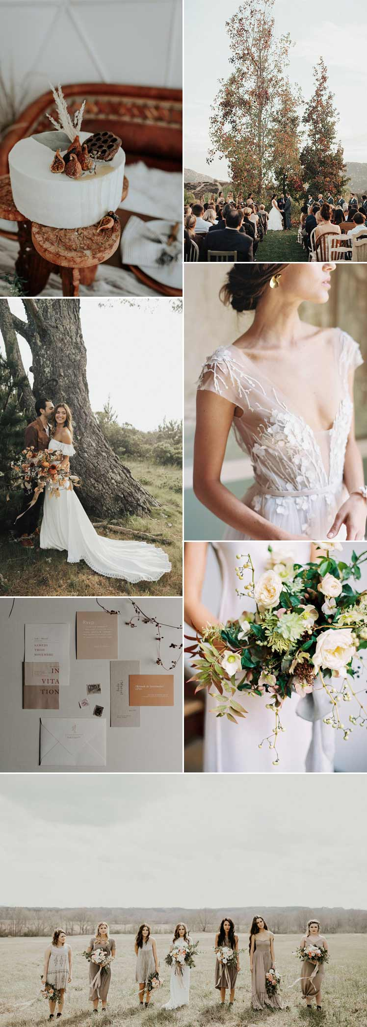 sage and beige for an Autumn wedding colour theme