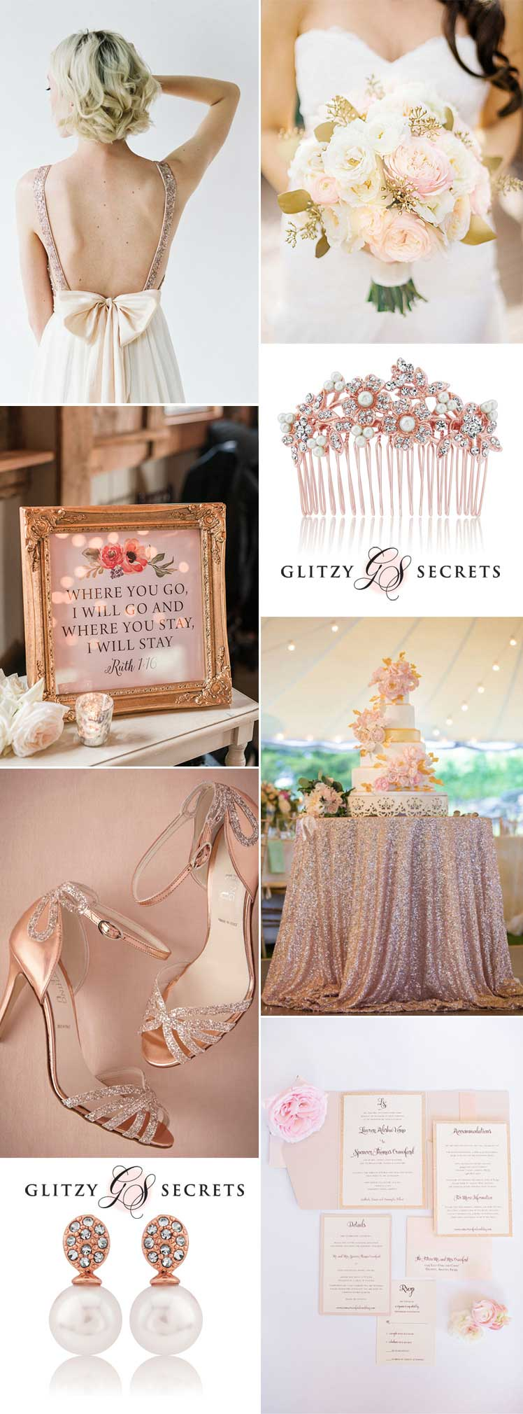 beautiful rose gold and blush wedding ideas