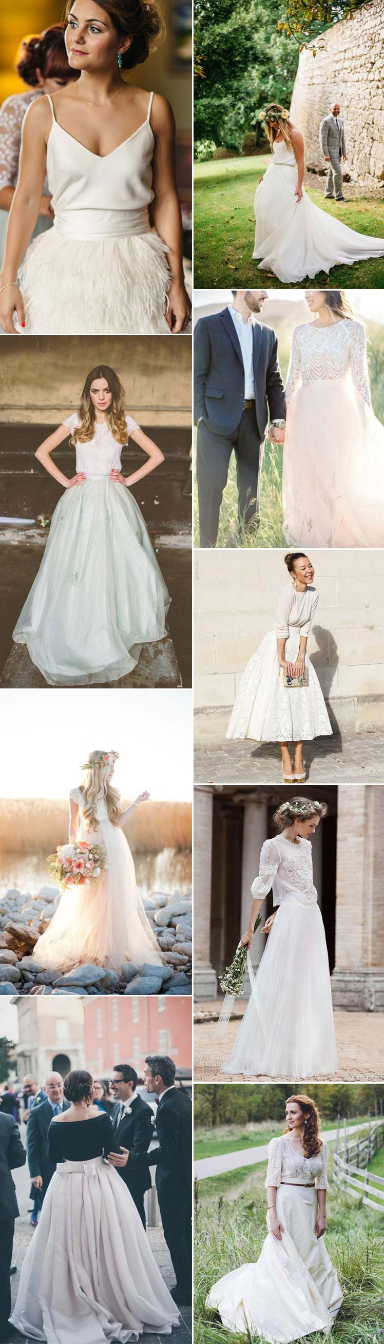 consider separates for your wedding day