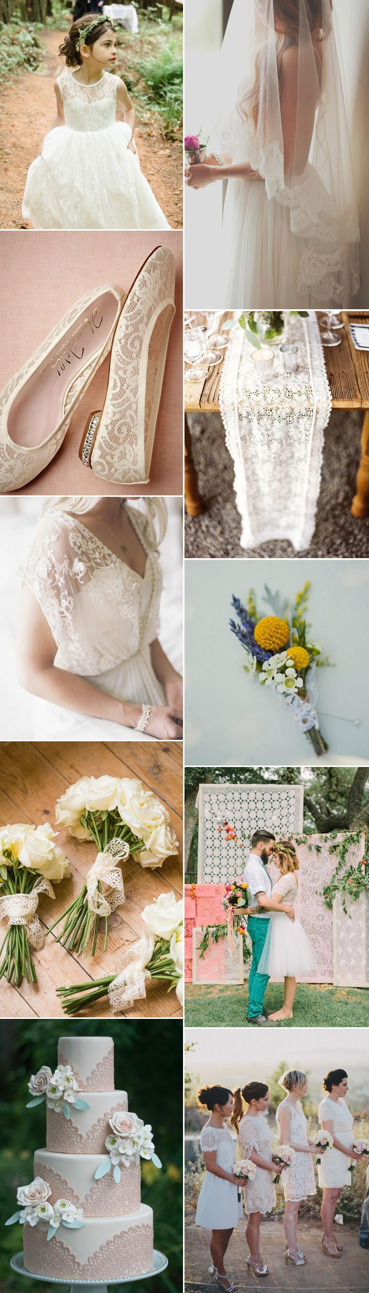 explore lace for the most beautiful wedding day ideas