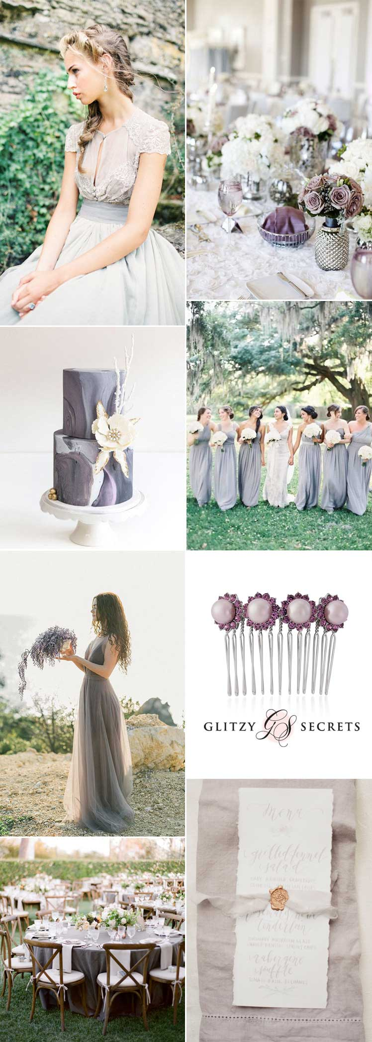 Beautifully Dusky Lilac Grey Wedding Ideas - Glitzy Secrets