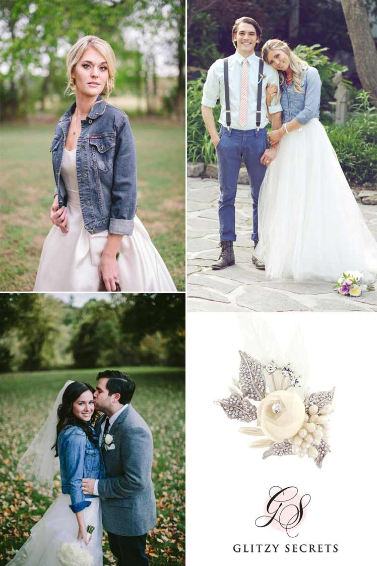 Don a denim jacket on your wedding day