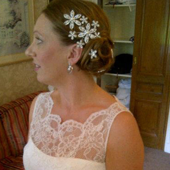 Emma wears Bouquet of Grace Headpiece by Glitzy Secrets
