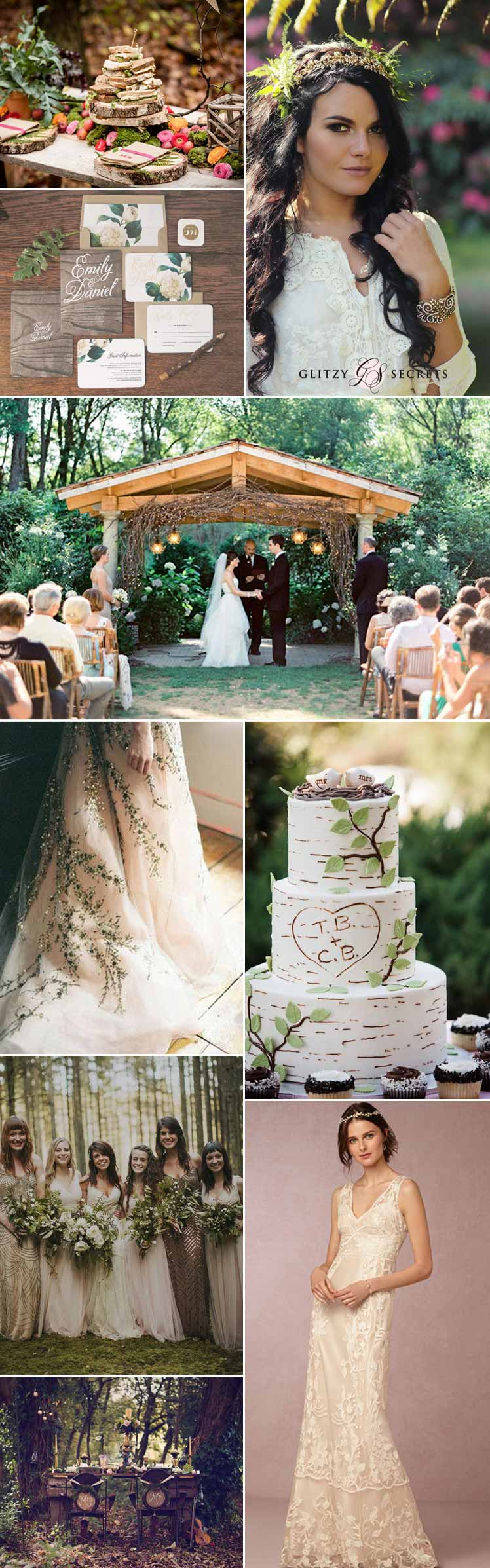 flowers and fairies - enchanting woodland wedding ideas