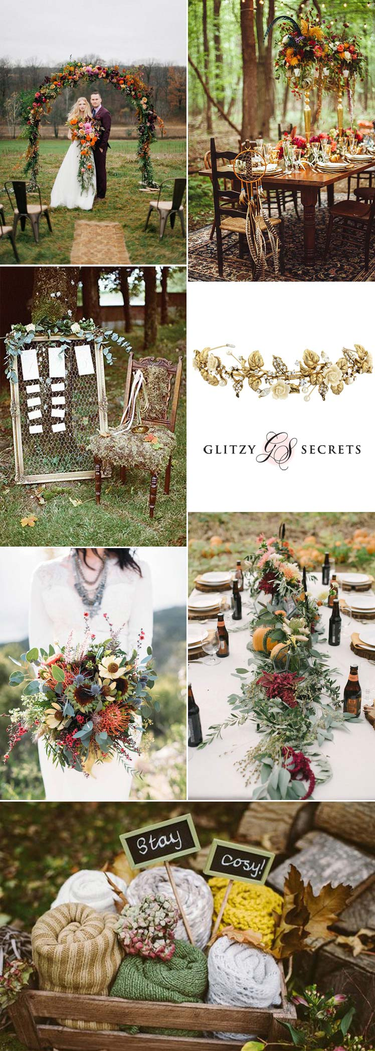 gorgeous Autumn boho wedding inspiration