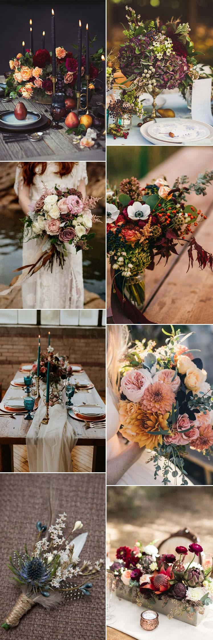 Flowers for an autumn wedding