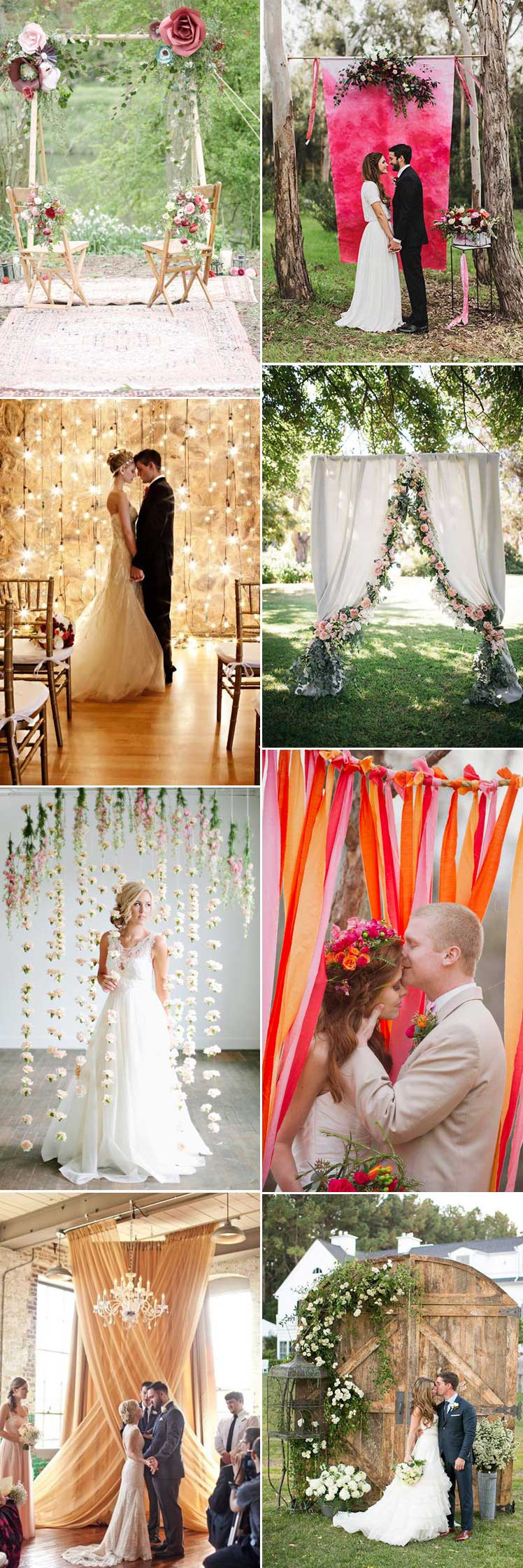Beautiful wedding backdrop ideas for every style