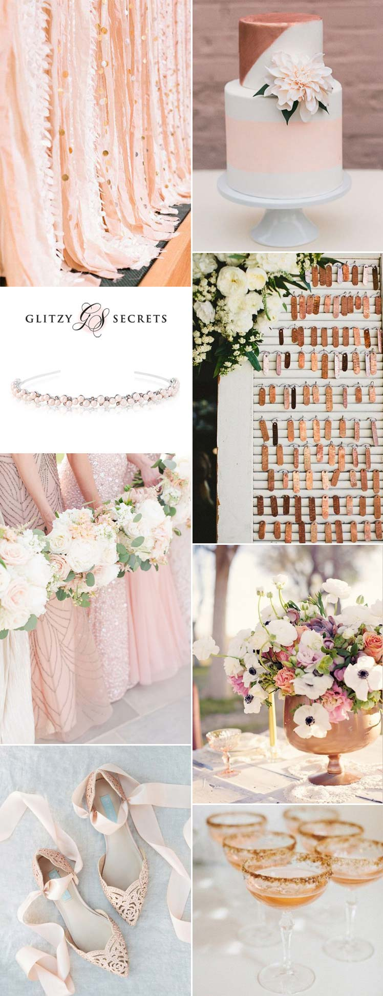 Blush and bronze wedding inspiration ideas