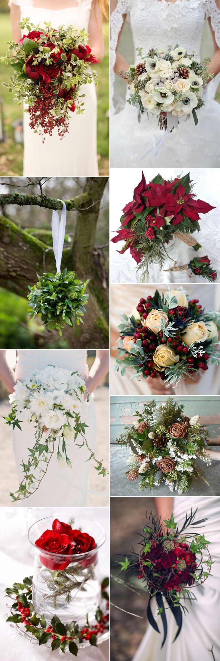 fabulous christmas wedding flowers