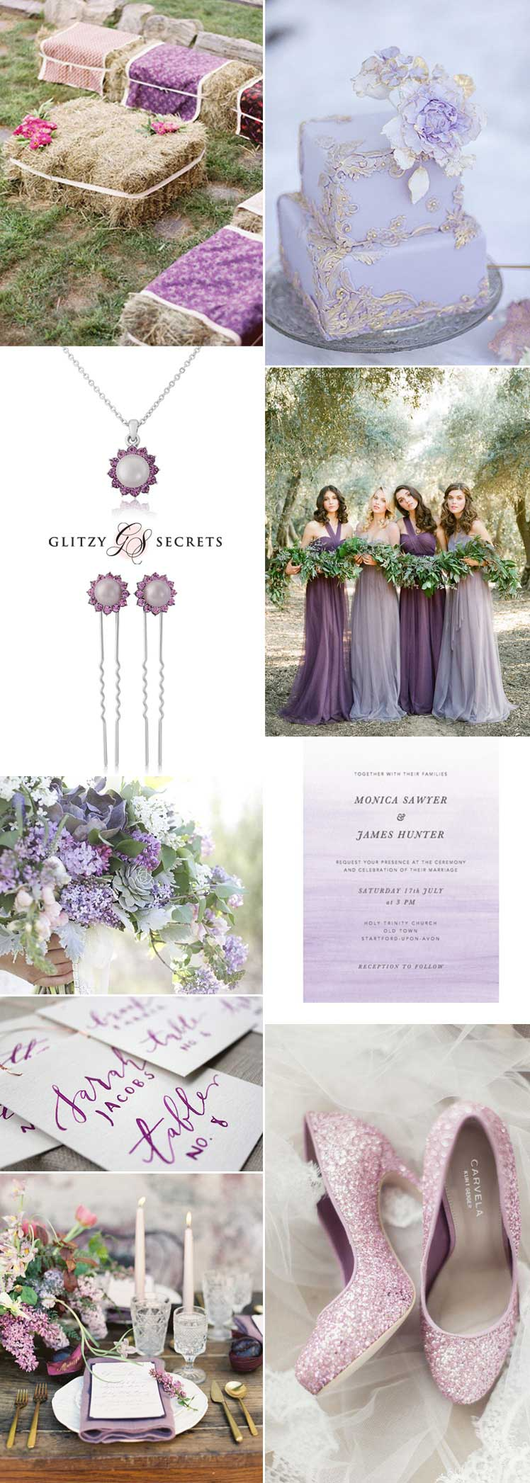 pretty lilac wedding inspiration