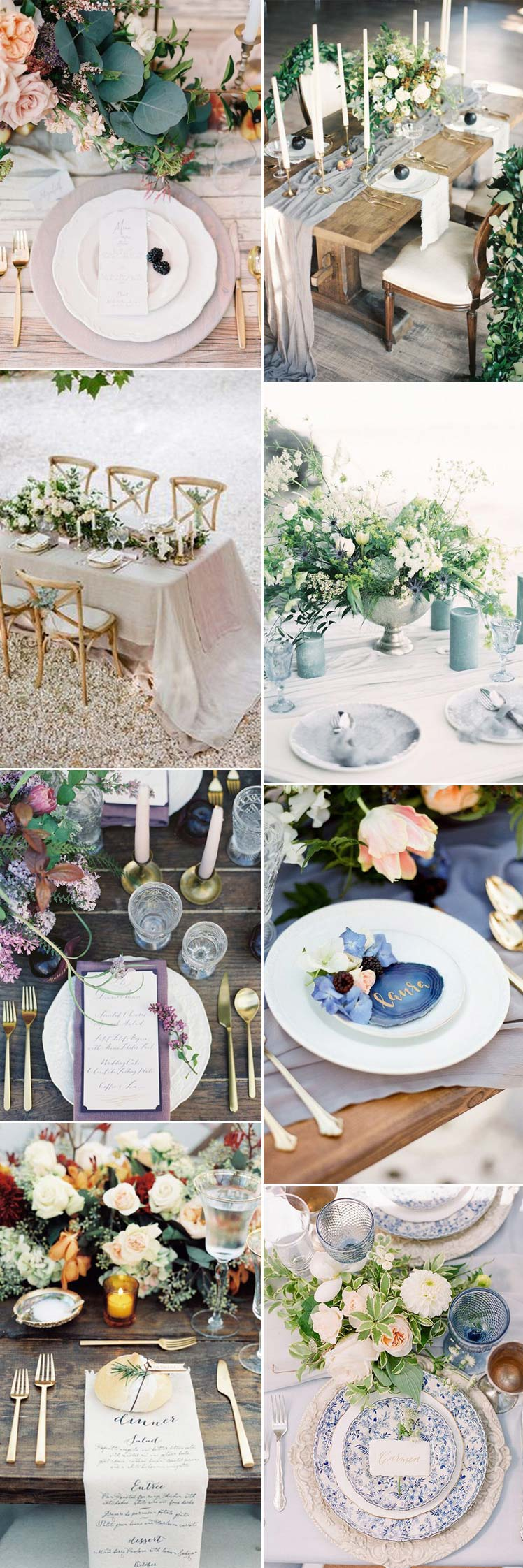 beautifully romantic wedding tablescapes