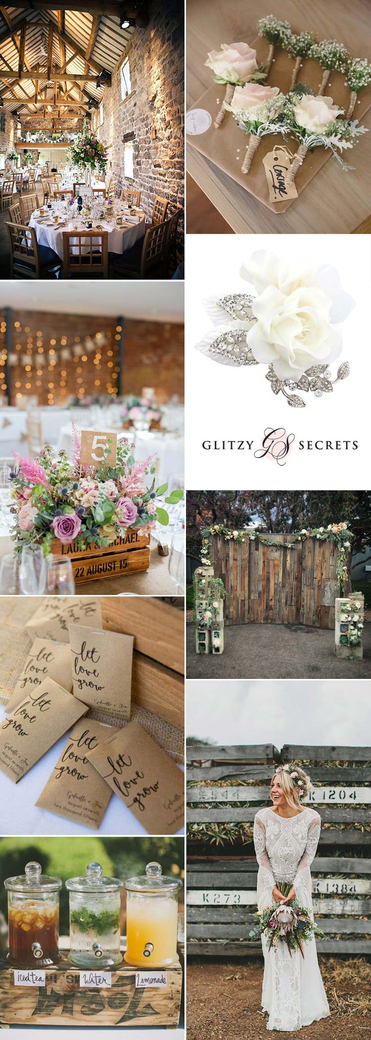 Inspiration for a rustic country wedding theme