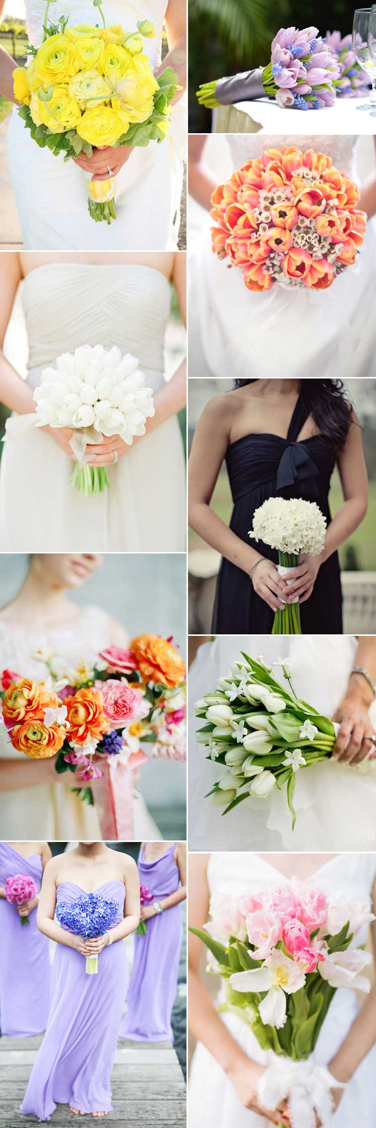 beautiful spring wedding bouquets