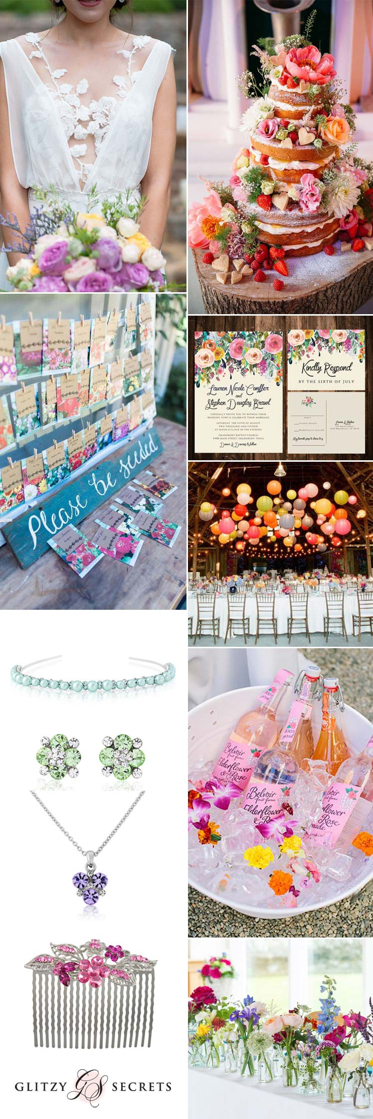 Bright coloured spring wedding ideas