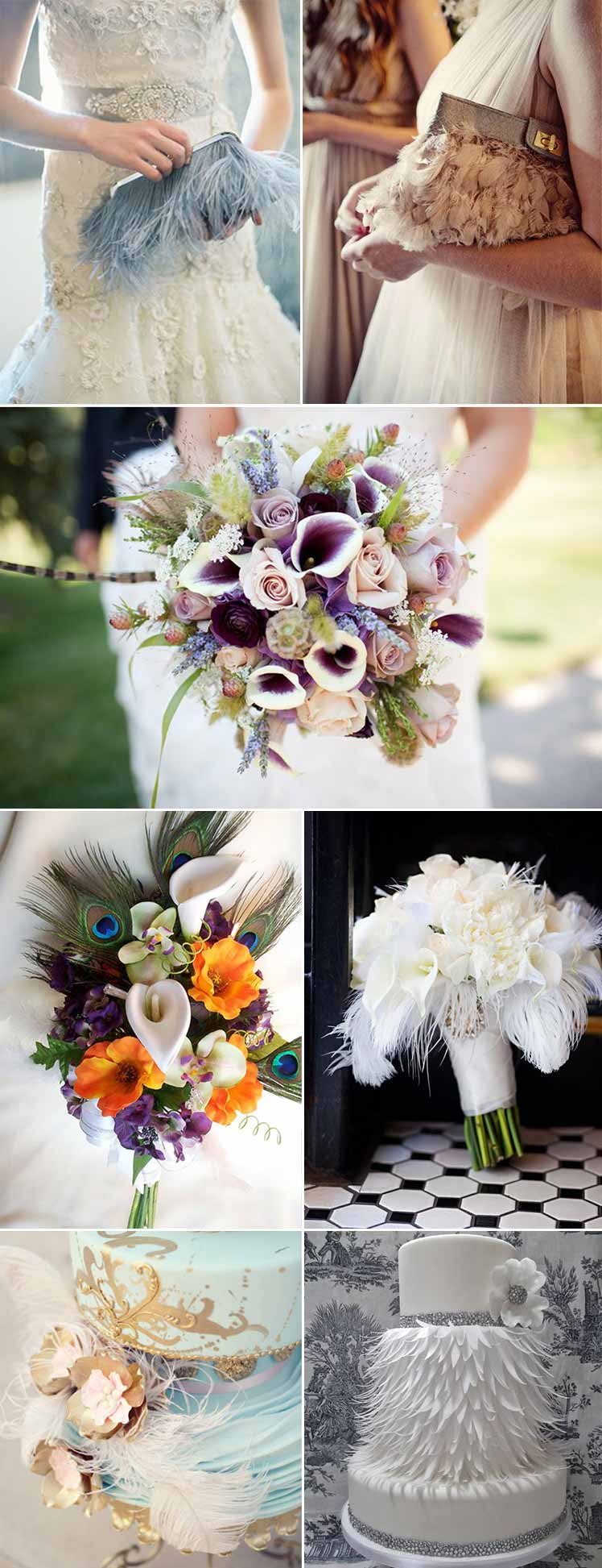 Ideas for a feather themed wedding day