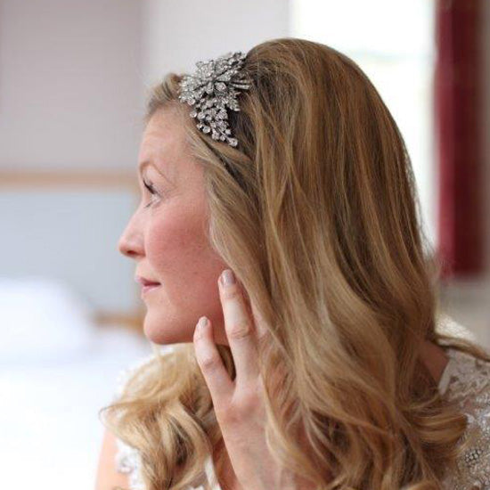Felicity wears Twenties Treasure Side Tiara by Glitzy Secrets