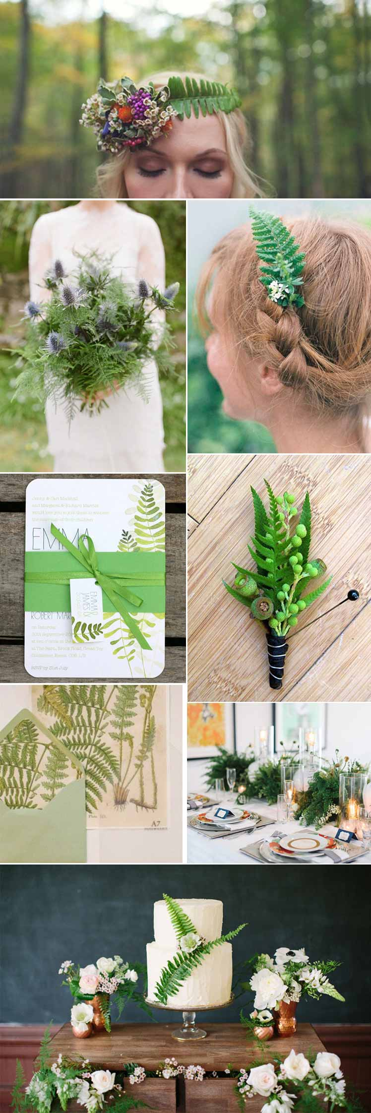 beautiful ways to include ferns in your wedding day