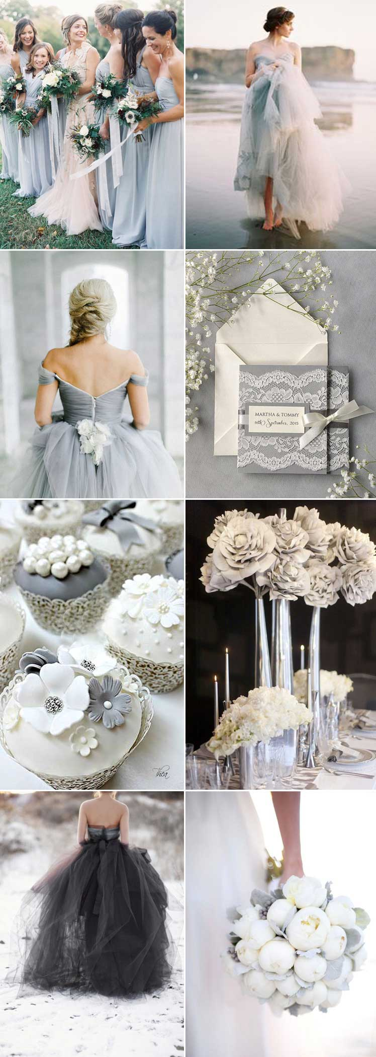 Fifty Shades of Grey for your wedding day colour scheme