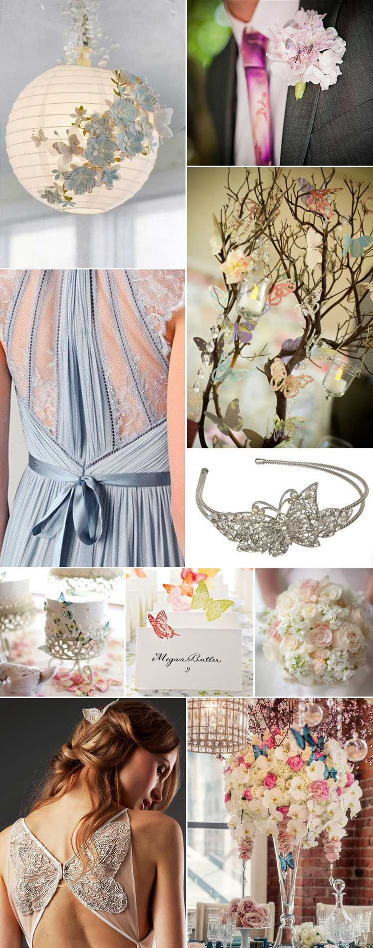 style ideas for a butterfly wedding theme