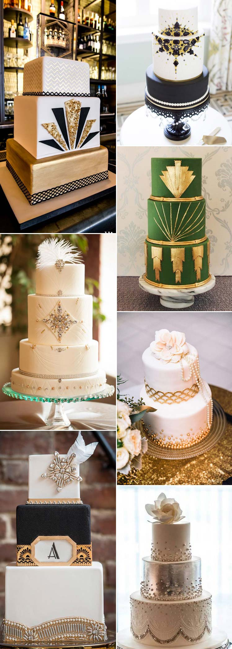 sensational Gatsby wedding cakes