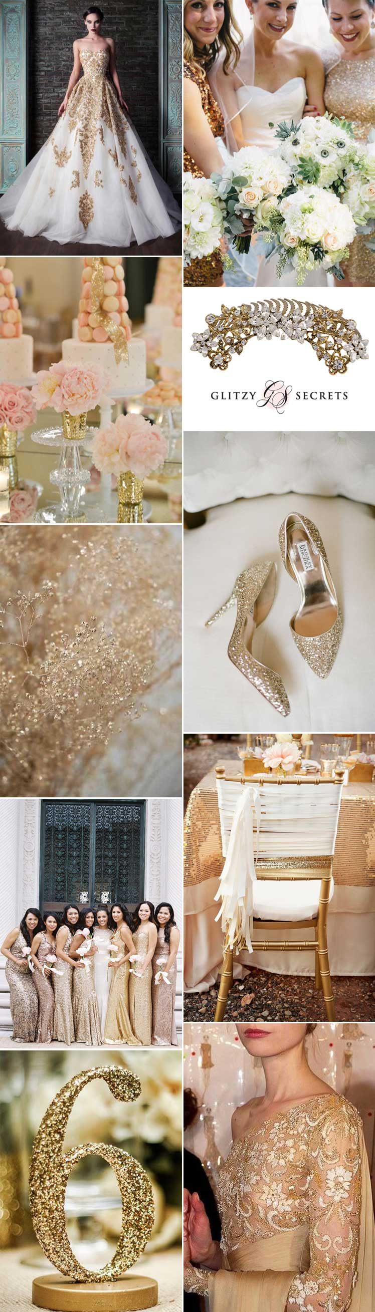 sensational glittering gold wedding ideas