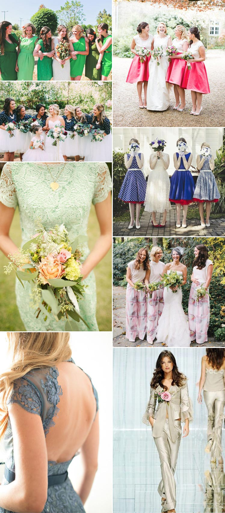 from florals to trousers - beautiful bridesmaid inspiration