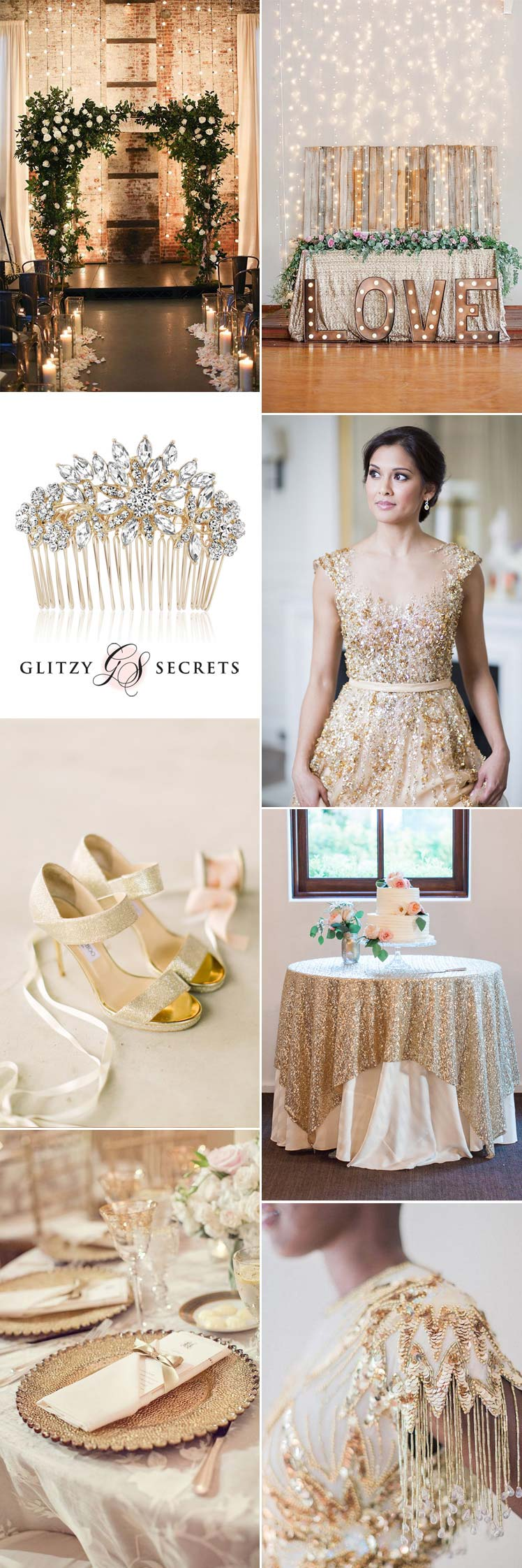 glittering gold wedding inspiration