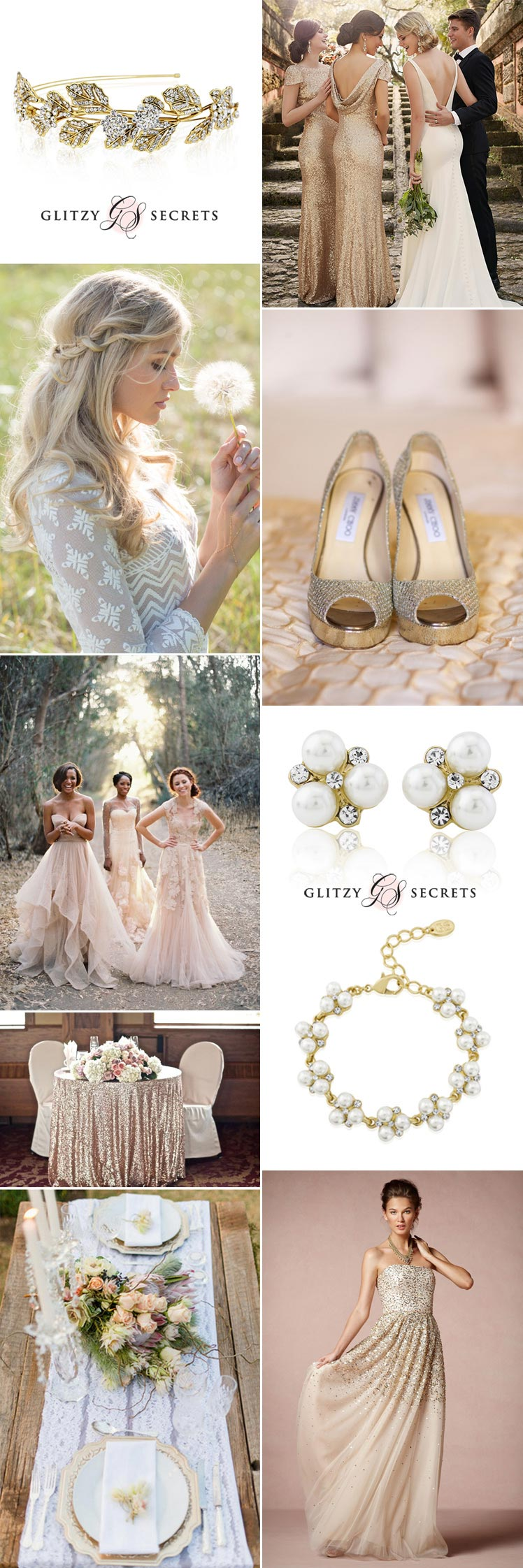 Ideas on how to wear gold accessories on your wedding