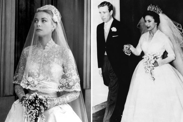 Grace Kelly and Princess Margaret's wedding dresses