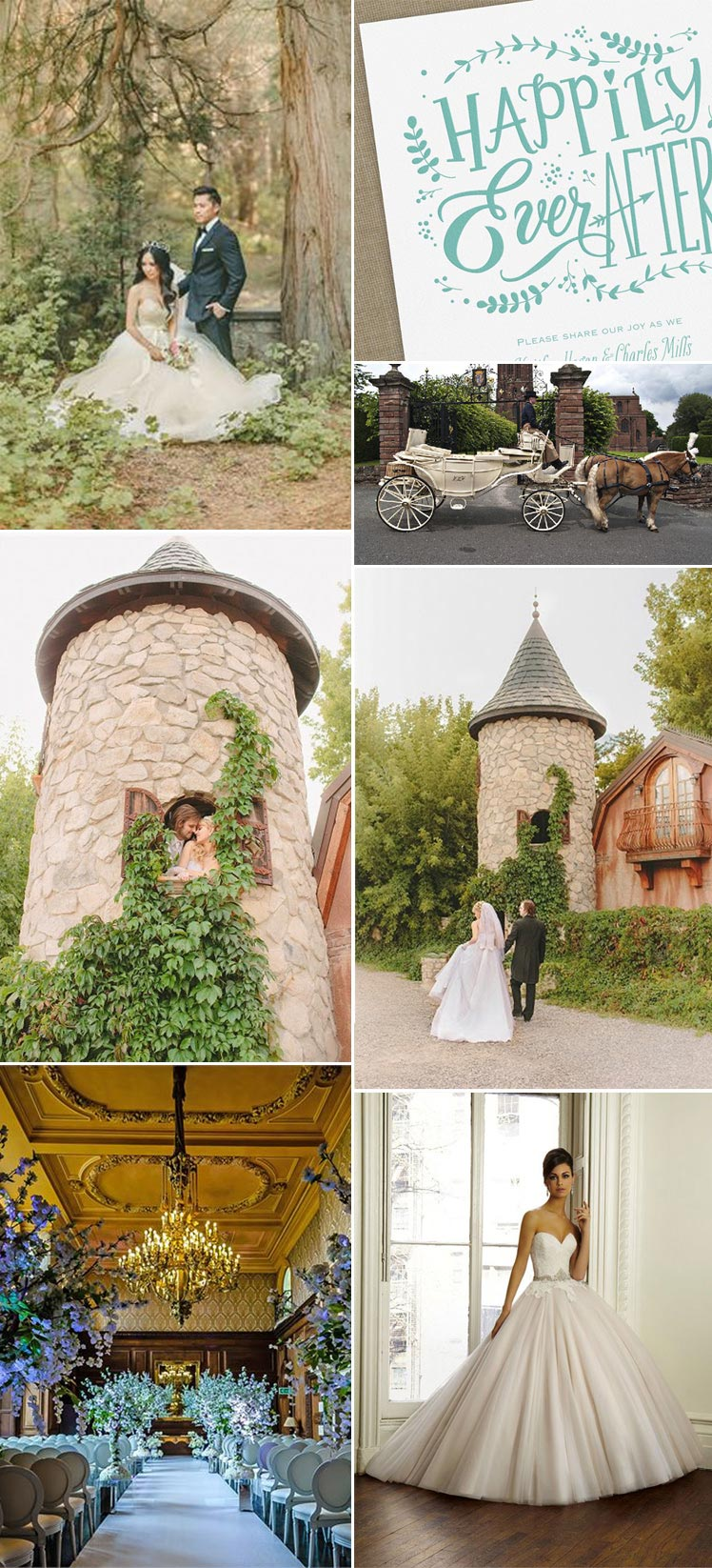 pretty fairytale wedding inspiration