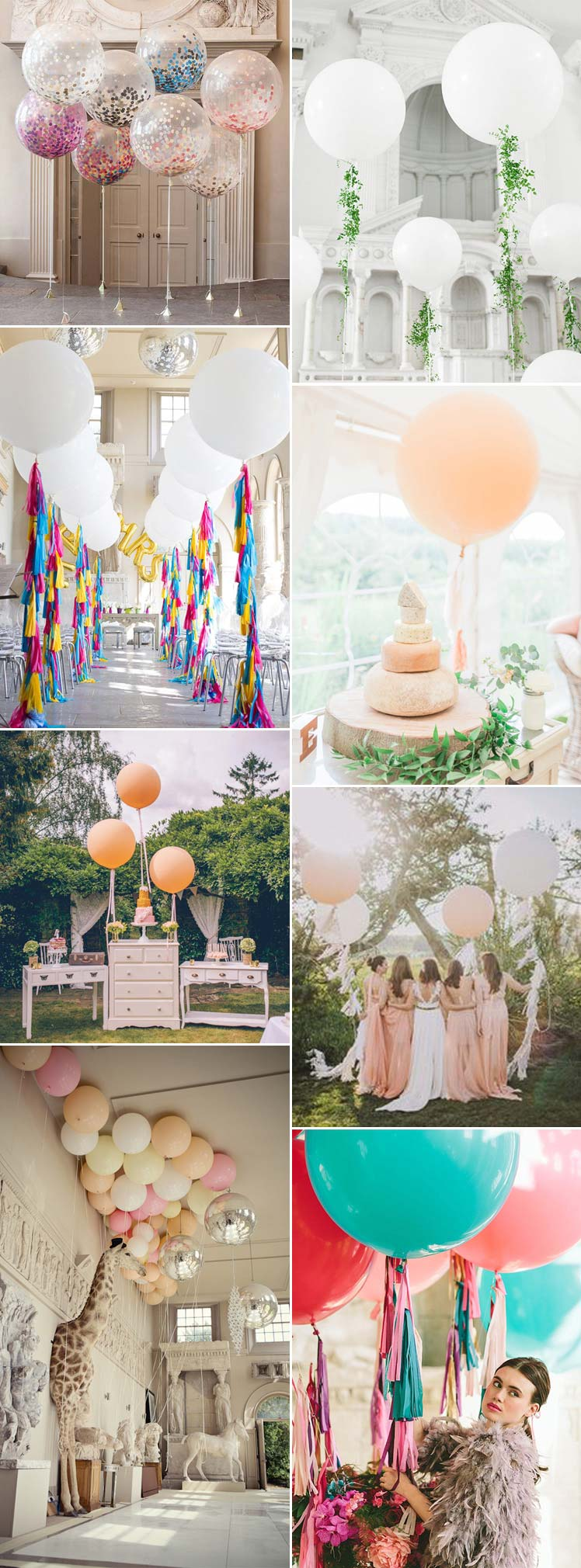 Grown up and stylish wedding balloon ideas